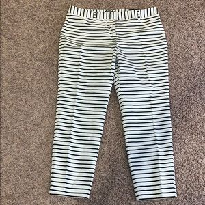 Express Striped Editor Ankle Pants Size 12